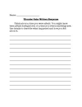 Thunder Cake Written Response Prompt