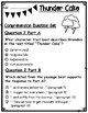 Thunder Cake by Patricia Polacco EBSR Questions & Narrative Writing Task