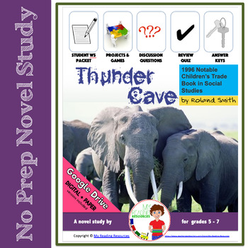 Thunder Cave By Roland Smith Novel Study