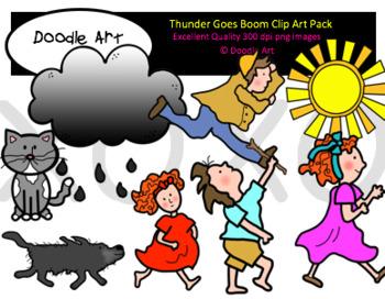 Thunder Goes Boom Clip Art Pack