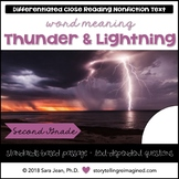 Thunder & Lightning Context Clues Passage Reading Comprehension