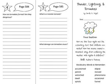 Thunder, Lightning, & Tornadoes Trifold - Imagine It 6th Grade Unit 5 Week 5