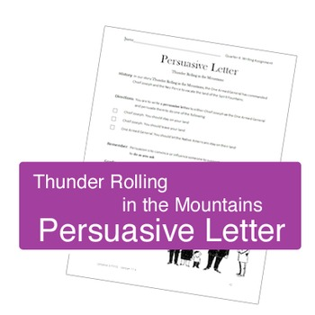 Samples of persuasive letter teaching resources teachers pay teachers persuasive letter thunder rolling in the mountains spiritdancerdesigns Gallery