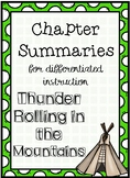 Thunder Rolling in the Mountains Chapter Summaries