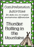 Thunder Rolling in the Mountains Comprehension Activities