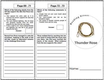Thunder Rose - 5th Grade Reading Street