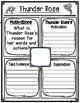 Thunder Rose Character Traits, Motivations, and Contributions Graphic Organizers