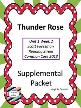 Thunder Rose---Supplemental Packet---Reading Street Grade 5