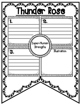 Thunder Rose Tall Tale Reading Comprehension Banner