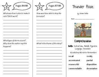 Thunder Rose Trifold - Into Reading 4th Grade Module 7 Week 1