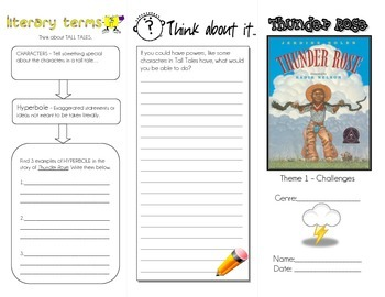 Thunder Rose Trifold Literacy Review Activities