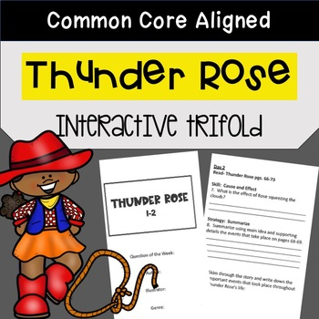 Thunder Rose Trifold Worksheet (5th Grade Reading Street 2011 Edition)
