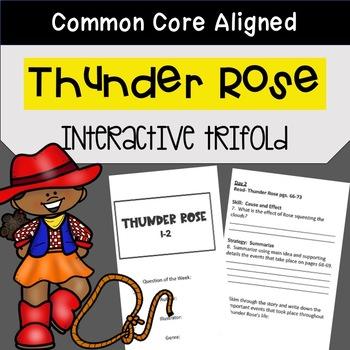 Thunder Rose Trifold Worksheet (5th Grade Reading Street 2