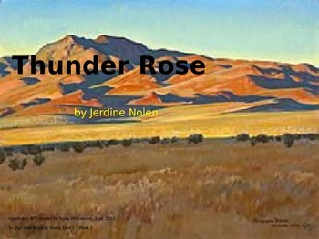 Thunder Rose Vocabulary PPT