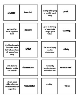 Thunder Rose Vocabulary Test and Vocabulary Dominoes