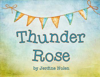 Thunder Rose by Jerdine Nolen Character Trait Graphic Organizer