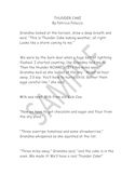 Thundercake - 10 Important Sentences