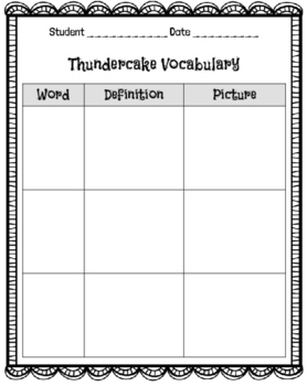 Thundercake: A mini unit of activities
