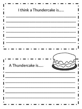 Thundercake Activities to use with Patricia Polacco's Book