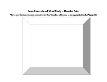 Thundercake Vocabulary activity