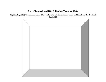 Thundercake Vocabulary activity