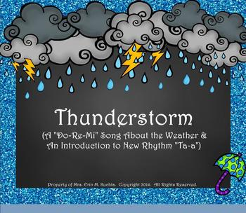 "Thunderstorm! Weather Song for Practicing ""Do-Re-Mi""/""Ta-a"