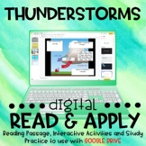 Thunderstorms DIGITAL Read and Apply for Distance Learning