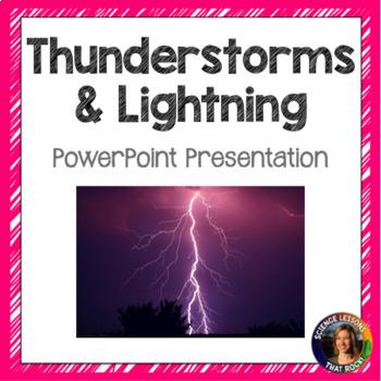 Thunderstorms and Lightning SMART notebook presentation