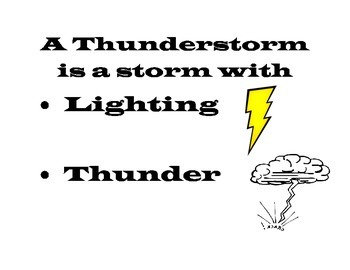 Thunderstorms and Senses