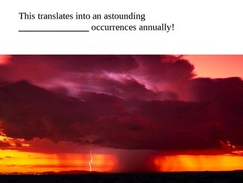 Thunderstorms cloze