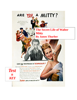 Thurber - The Secret Life of Walter Mitty QUIZ and KEY