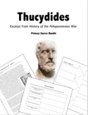 Thucydides Primary Source Bundle: History of the Peloponne