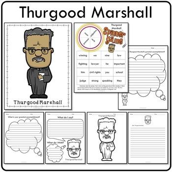 Thurgood Marshall Historical Figure Mini Activity Set