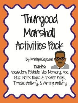 Thurgood Marshall Activities Pack