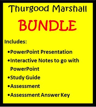 Thurgood Marshall BUNDLE-  3rd Grade Social Studies