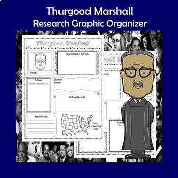 Thurgood Marshall Biography Research Graphic Organizer