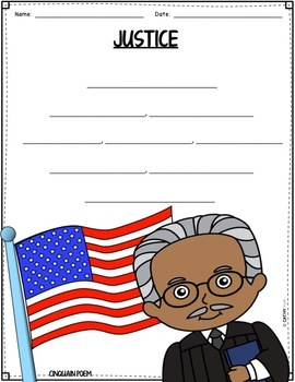 Thurgood Marshall Biography Research Project, Flip Book, Black History Month