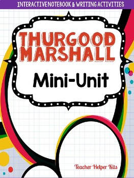Thurgood Marshall- Black History Month Activity