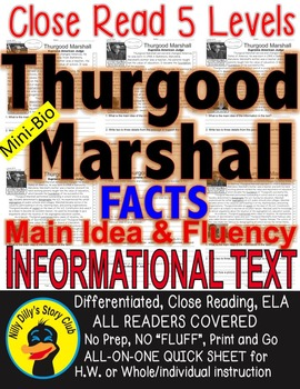 Thurgood Marshall & Brown v. Board of Education FACTS 5 levels differentiated