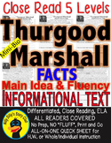 Thurgood Marshall & Brown v. Board of Education CLOSE READING 5 LEVEL PASSAGES