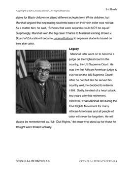 Black History Month-Thurgood Marshall - Civil Rights Movement