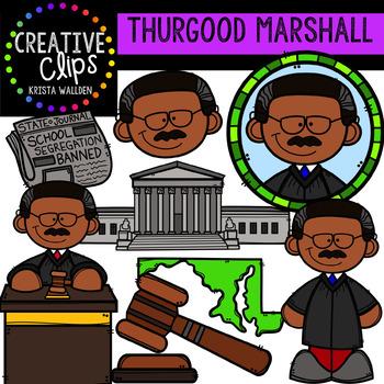 Thurgood Marshall Clipart {Creative Clips Clipart}