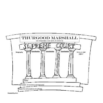 Thurgood Marshall Graphic Organizer Packet