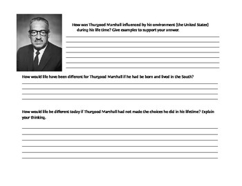 Thurgood Marshall Historical Figure Map