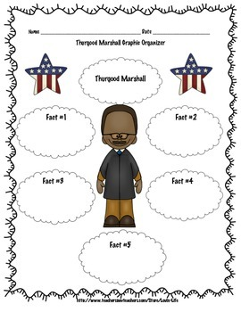 Thurgood Marshall Informational Writing FREEBIE OF THE WEEK! Please Rate!