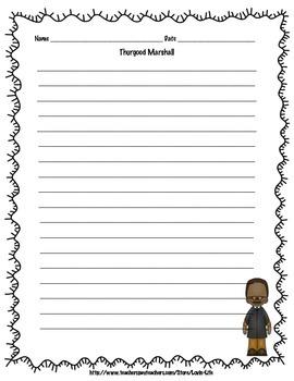 5th Grade (NEW GSE) Thurgood Marshall Informational Writing FREEBIE
