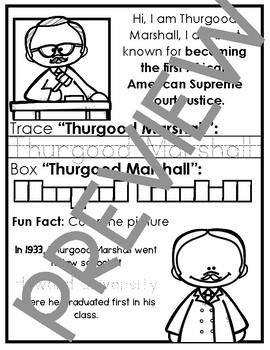 Thurgood Marshall {Lapbook}