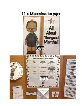 5th Grade (NEW GSE) Social Studies Thurgood Marshall Lapbook