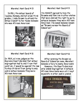 Thurgood Marshall Scavenger Hunt Cards