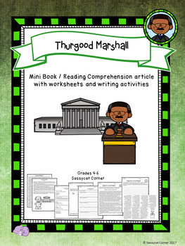 Thurgood Marshall Mini Book Foldable and Comprehension Packet